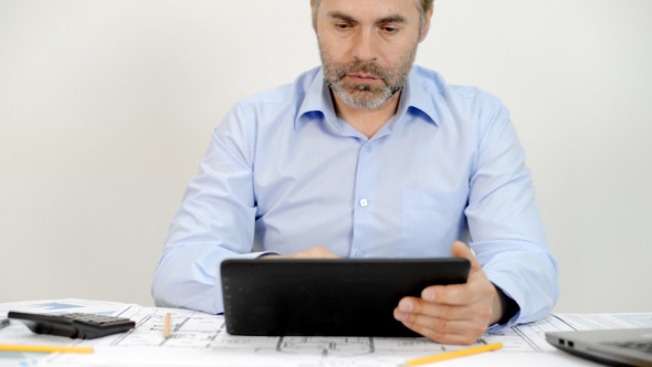 Business News on Tablet