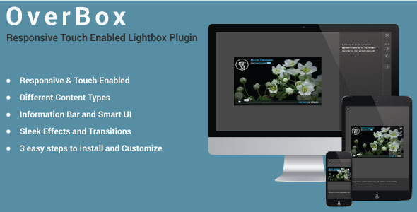 OverBox - Responsive Touch Enabled LightBox Plugin
