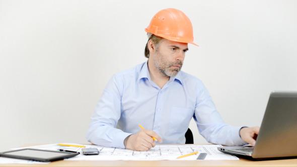 Engineer Working in Office