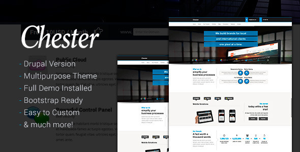 Chester Multi-Purpose And Software Drupal 7 Theme