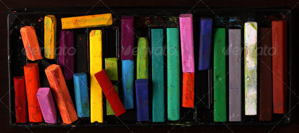 Oil pastels - Stock Photo - Images