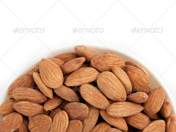 Bowl Almonds - Stock Photo - Images