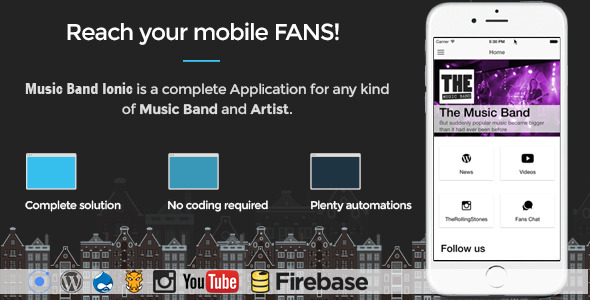 Music Band Ionic – Full Application (Full Applications) Download