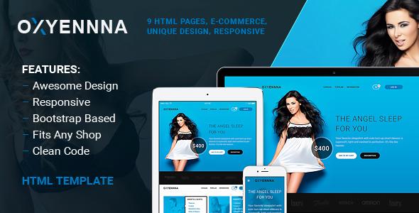 Oxena - Unique eCommerce Store HTML Template