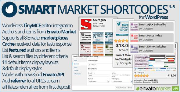 Smart Market Shortcodes