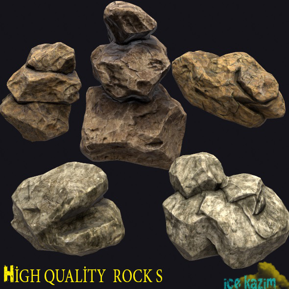 3DOcean Rock Pack 12097047