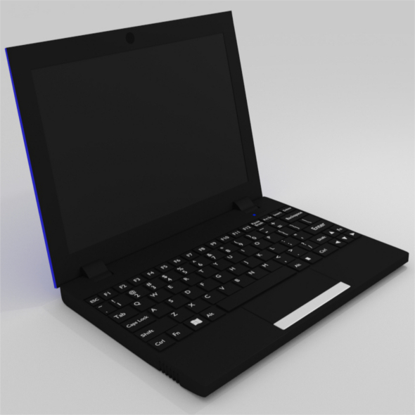 3DOcean Netbook Blue 12097992