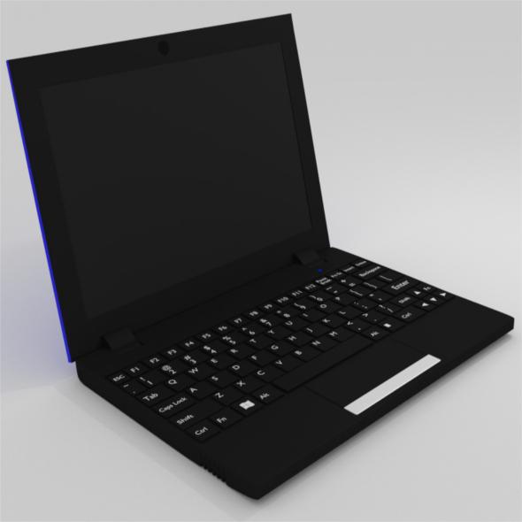 Netbook - Blue - 3DOcean Item for Sale