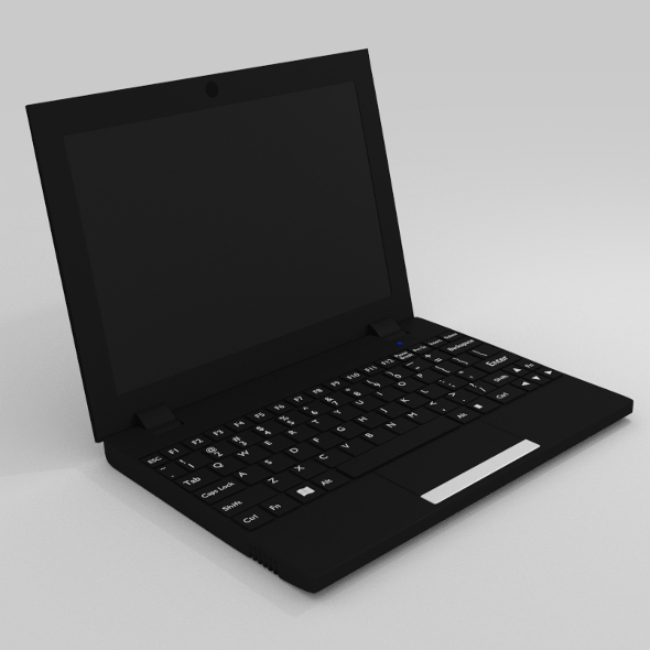 Netbook - Black - 3DOcean Item for Sale