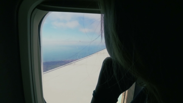 Flying In The Plane And Enjoying View From Height