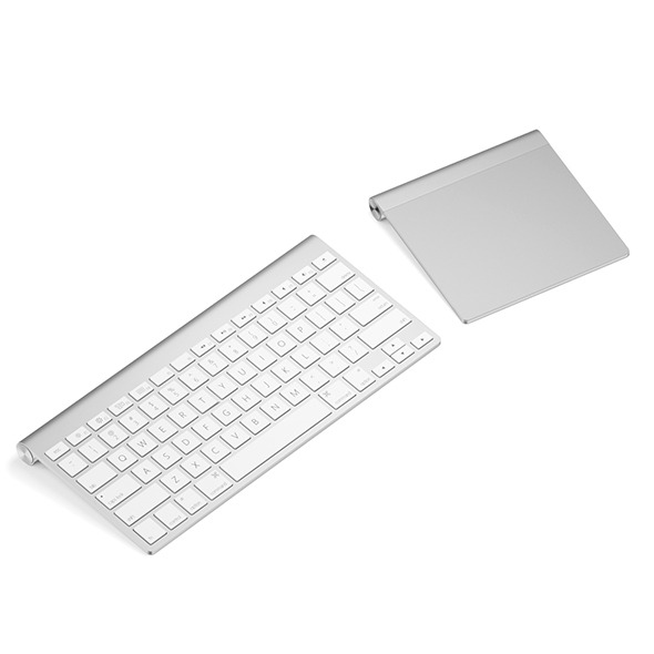Keyboard with touchpad - 3DOcean Item for Sale