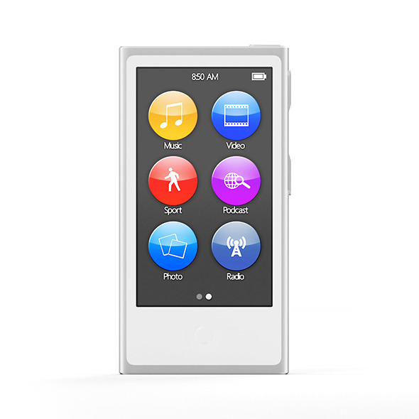 White music player - 3DOcean Item for Sale