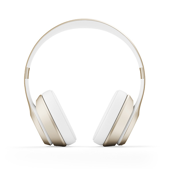 Golden headphones - 3DOcean Item for Sale