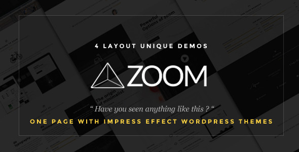 Zoom – Zooming Page and One Page Creative Theme (Creative) Download
