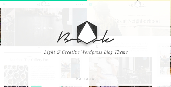 Brook | Light & Responsive WordPress Blog Theme (Personal) Download