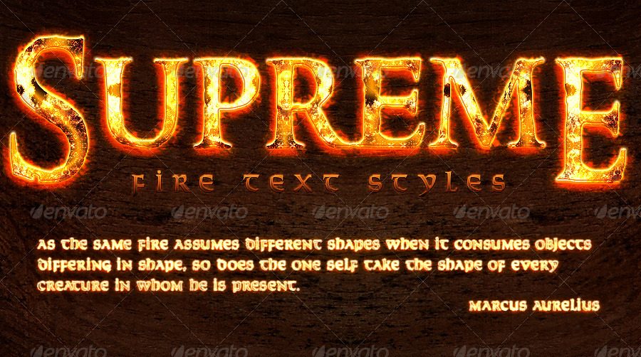 Supreme Fire Text Styles