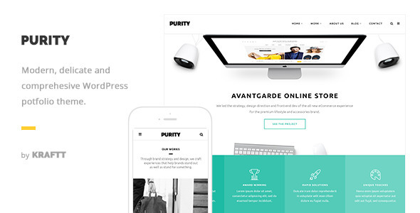 Purity – Responsive Multi-Purpose WordPress Theme (Portfolio) Download