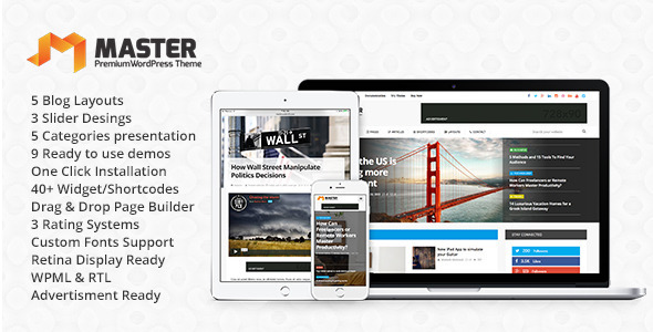 Master | Premium Blog & Magazine WordPress Theme (Blog / Magazine) Download