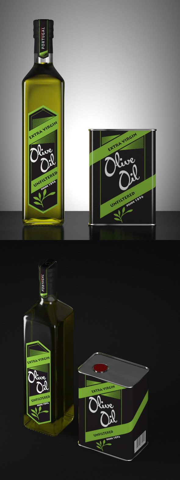3DOcean Olive Oil  Models and Render Scene 12100004