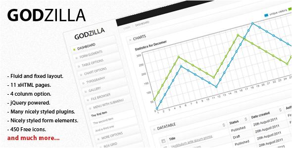 Godzilla - Admin Templates Site Templates