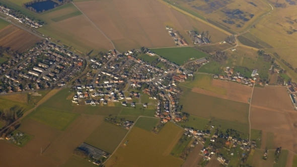 View For People Settlements From The Plane