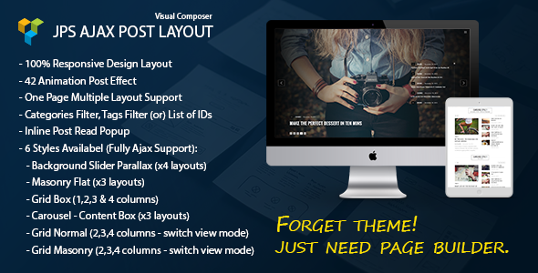 JPS Ajax Post Layout – Addon For Visual Composer (Add-ons) Download