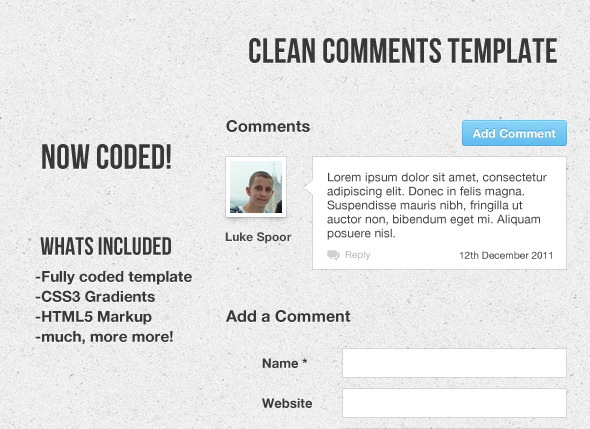 Clean Comment Template Coded - CodeCanyon Item for Sale