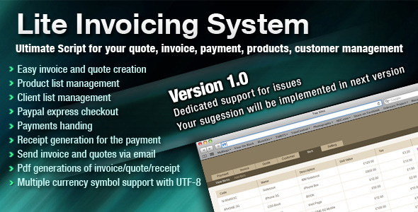 CodeCanyon Lite Invoicing System 1213606