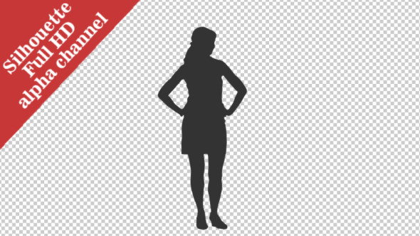 Silhouette of Standing Girl