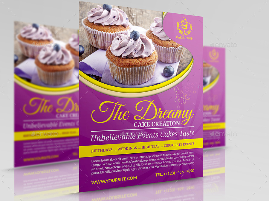 Cake Flyer Template Vol 5 By Owpictures Graphicriver