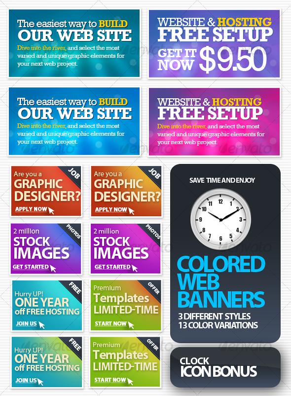 GraphicRiver Colored Web Banners 48928