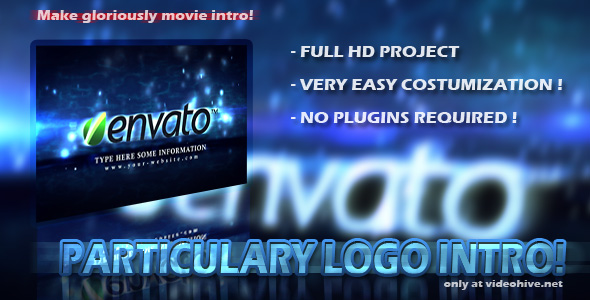 After Effects Project - VideoHive Particulary Logo Intro 147700