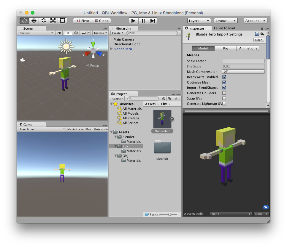 Blender Character Modeling Workflow : Qubicle blender unity d character workflow by carlosrovira