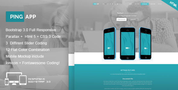 Ping App - One Page App Landing Page