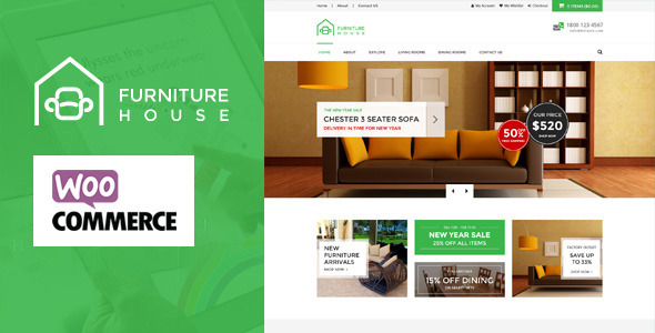 Furniture – WooCommerce WordPress Theme (WooCommerce) Download
