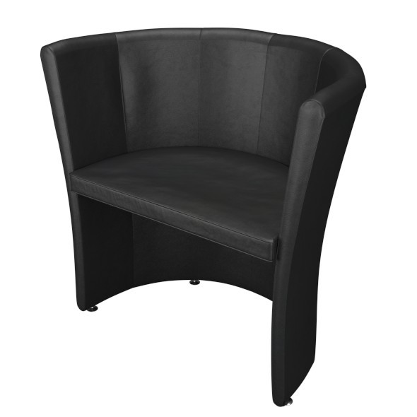 3DOcean Black Leather Armchair 12109033