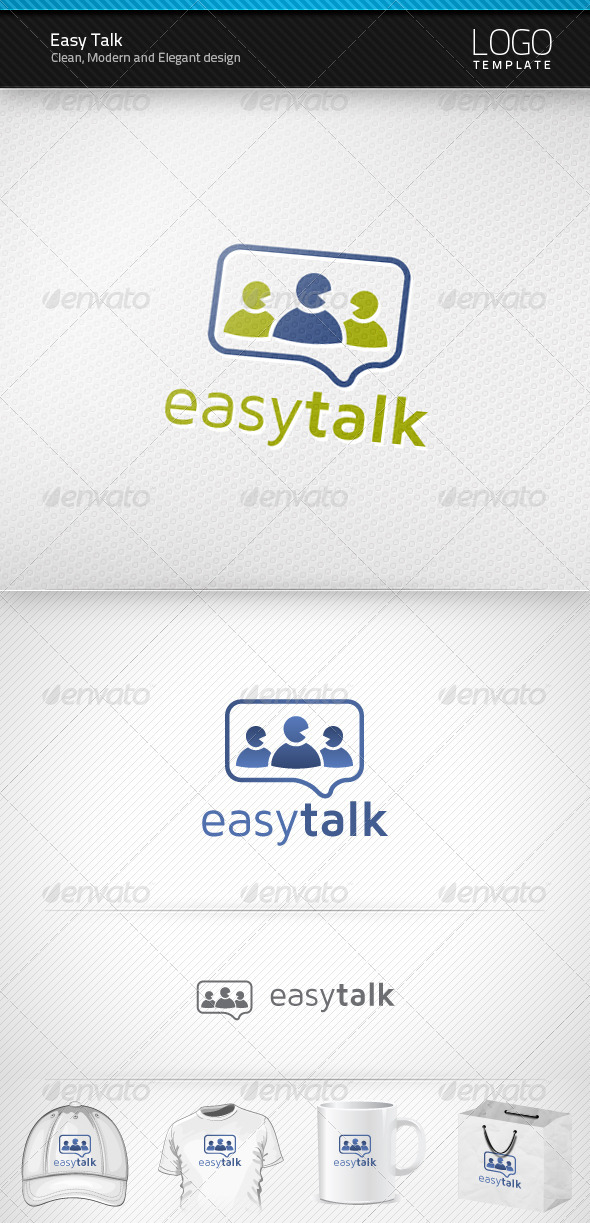 Easy Talk Logo - Humans Logo Templates