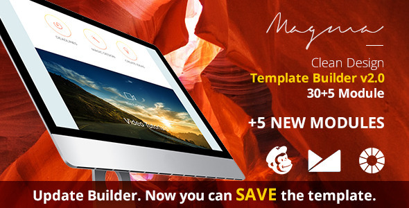 Magma Email Template + EmailBuilder