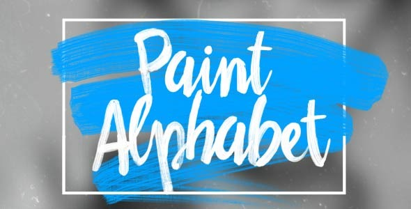 Oil Paint Alphabet