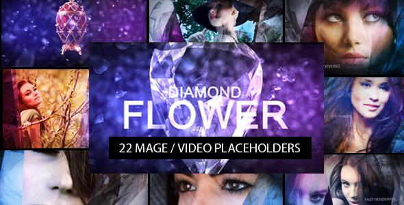 Photo Gallery on a Diamond Flower