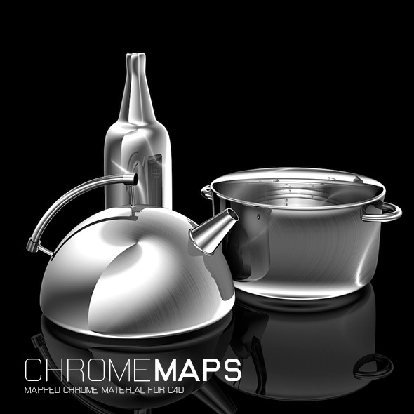 3DOcean Chrome Maps for C4D 12115714