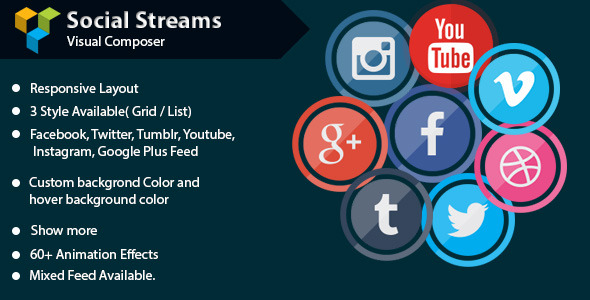 Visual Composer - Social Streams With Carousel