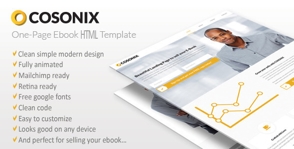 Cosonix One-Page HTML5 eBook Template