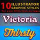 10 Illustrator Graphic Styles Vol.3