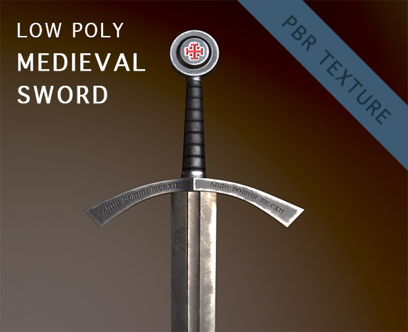 3DOcean Low Poly Medieval Sword 12068030
