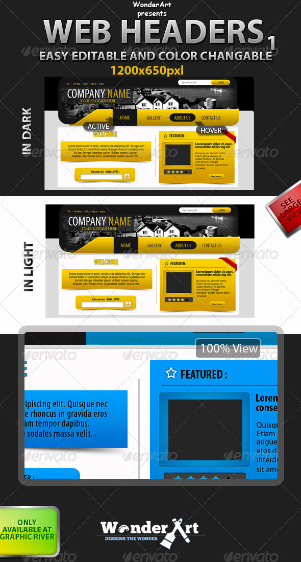 GraphicRiver Web Header-1 147831