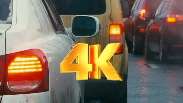 VideoHive Bumper-to-bumper Traffic On Dull Day 12118605