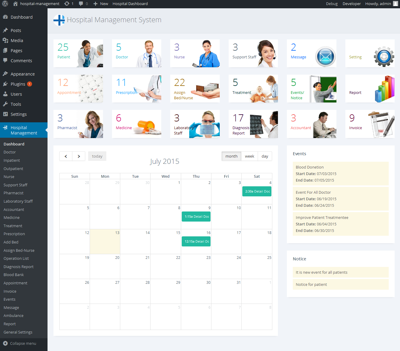 Hospital Management System For Wordpress By Dasinfomedia