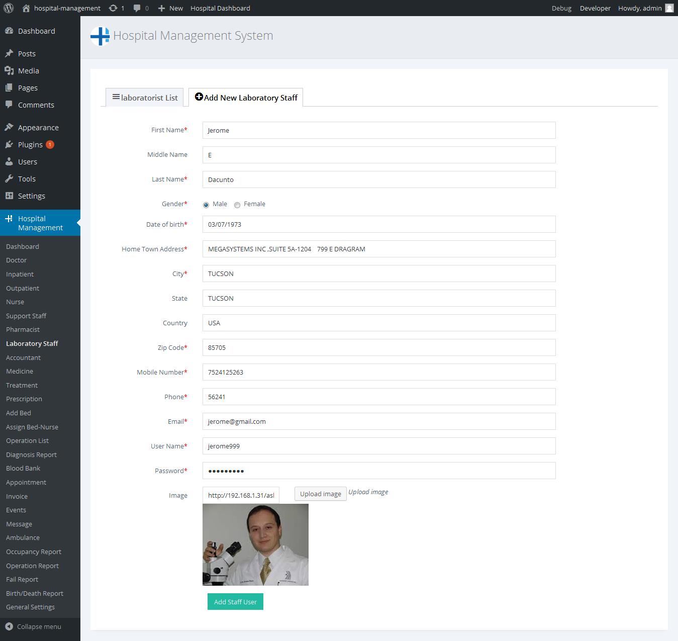 Hospital Management System for Wordpress by dasinfomedia
