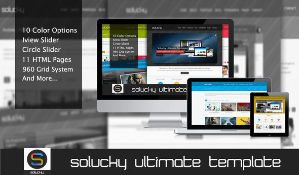 Solucky Ultimate HTML Template